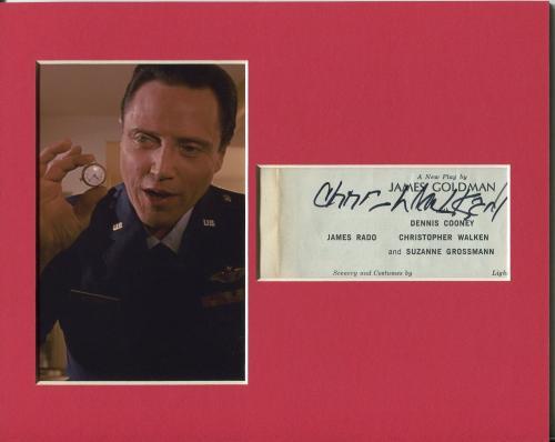 Christopher Walken Pulp Fiction Captain Koons Signed Autograph Photo Display