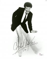 "Chubby Checker Autographed 8"" x 10"" Posing in Suit & Tie Black & White Photograph - JSA"