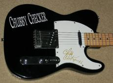 Chubby Checker Autographed Guitar (the Twist) W/ Proof!