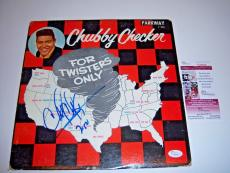 Chubby Checker For Twisters Only Jsa/coa Signed Lp Record Album