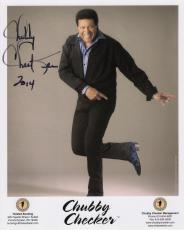 CHUBBY CHECKER HAND SIGNED 8x10 COLOR PHOTO+COA    LEGENDARY SINGER    THE TWIST
