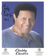 CHUBBY CHECKER HAND SIGNED 8x10 PHOTO+COA     LEGENDARY SINGER    LET'S TWIST