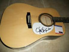 Chubby Checker IP Signed Autographed Acoustic Guitar PSA Certified