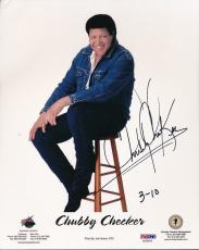 Chubby Checker Signed 8x10 Photo Autograph Auto PSA/DNA AA28015