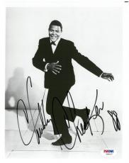 Chubby Checker Signed Authentic Autographed 8x10 B/W Photo PSA/DNA #V90417
