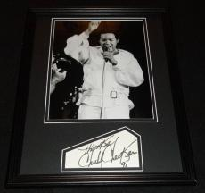 Chubby Checker Signed Framed 11x14 Photo Poster Display B