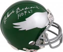Chuck Bednarik Philadelphia Eagles Autographed Riddell Mini Helmet with HOF 67 Inscription - Mounted Memories