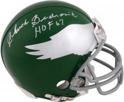 Chuck Bednarik Philadelphia Eagles Autographed Riddell Mini Helmet with HOF 67 Inscription