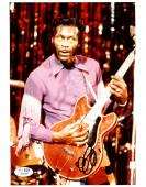 "Chuck Berry Autographed 8"" x 10"" Playing Guitar Photograph - JSA COA"