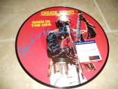 Chuck Berry Back in USA Signed Autographed LP Picture Disc Record PSA Certified