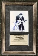 CHUCK BERRY d.2017 authentic signed custom framed display JSA COA