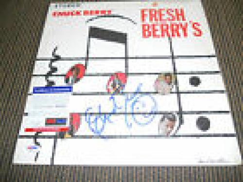 Chuck Berry Fresh Berry's Signed Autographed LP Album Record PSA Certified