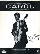 Chuck Berry Jsa Coa Hand Signed Vintage Sheet Music Authenticated Autograph