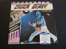 Chuck Berry Live Vol 1 Signed Autographed LP Album Record Beckett Certified