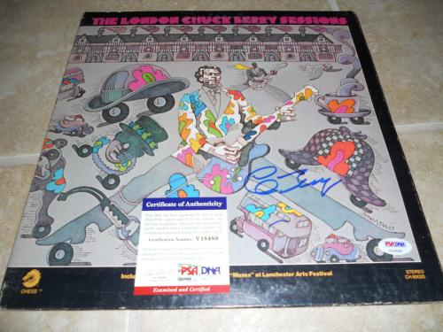 Chuck Berry London Sessions Signed Autographed LP Album Record PSA Certified