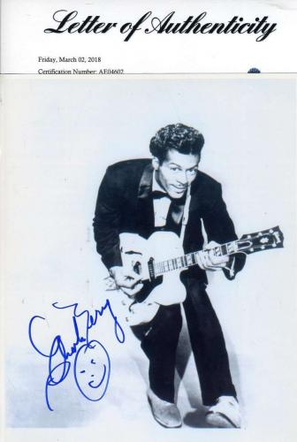 CHUCK BERRY PSA DNA LOA Hand Signed 8x10 Photo Authentic Autograph