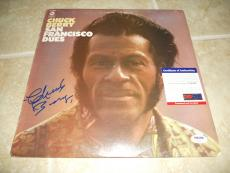 Chuck Berry San Francisco Dues Signed Autographed LP Album Record PSA Certified