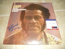 Chuck Berry San Francisco Dues Signed Autographed LP Album Record PSA Certified