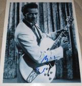 Chuck Berry Signed 11x14 Photo Autograph Guitar Rock N Roll Johnny B Good Coa