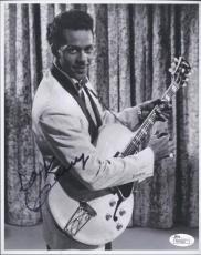 Chuck Berry Signed Authentic 8x10 Photo Rock N Roll Hof Jsa Coa