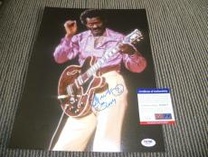 Chuck Berry Signed Autographed 11x14 Live Photo Johnny B Good #10 PSA Certified