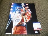 Chuck Berry Signed Autographed 11x14 Live Photo Johnny B Good #11 PSA Certified