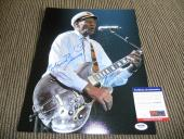 Chuck Berry Signed Autographed 11x14 Live Photo Johnny B Good #14 PSA Certified