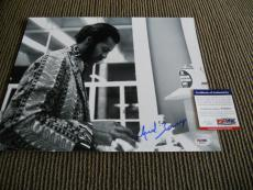 Chuck Berry Signed Autographed 11x14 Live Photo Johnny B Good #6 PSA Certified