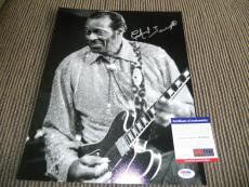 Chuck Berry Signed Autographed 11x14 Live Photo Johnny B Good #9 PSA Certified