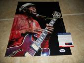 Chuck Berry Signed Autographed 11x14 Live Photo Johnny B Goode PSA Certified