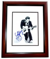 Chuck Berry Signed - Autographed Legendary Singer 8x10 inch Photo - MAHOGANY CUSTOM FRAME - Deceased 2017 - Guaranteed to pass PSA or JSA