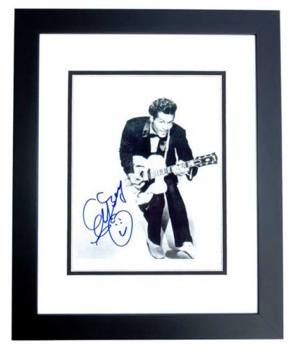 Chuck Berry Signed - Autographed Legendary Singer - Songwriter 8x10 inch Photo BLACK CUSTOM FRAME - Guaranteed to pass PSA or JSA