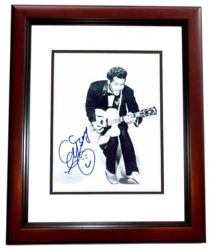Chuck Berry Signed - Autographed Legendary Singer - Songwriter 8x10 inch Photo MAHOGANY CUSTOM FRAME - Guaranteed to pass PSA or JSA