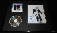 Chuck Berry Signed Framed 16x20 Super Hits CD & Photo Set