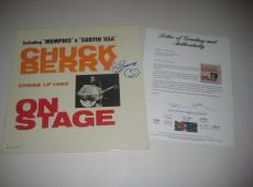 CHUCK BERRY Signed ON STAGE Album w/ PSA LOA GRADED 10