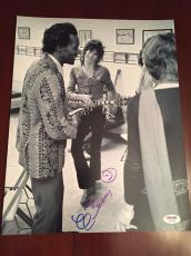 Chuck Berry Signed Photo 11x14 PSA DNA COA Keith Richards
