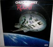 Chuck Berry Signed 'rockit' Album Cover Autograph Psa/dna Coa