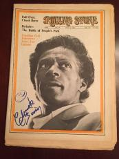 Chuck Berry Signed Rolling Stone Magazine JSA COA CERTIFICATE of AUTHENTICITY!!!