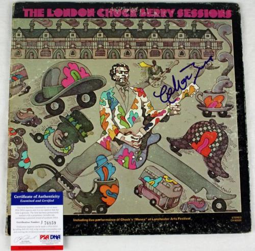 Chuck Berry The London Sessions Signed Album Cover W/ Vinyl PSA/DNA #J76859
