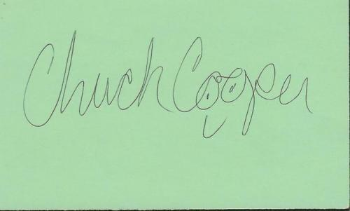 Chuck Cooper Signed 3x5 Index Card Gossip Girl