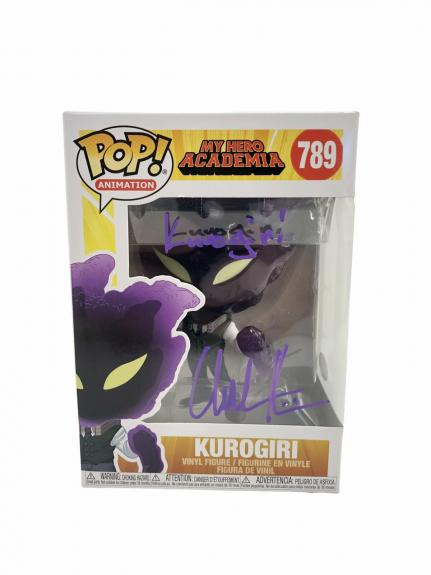 Chuck Huber Autograph Signed Funko Pop My Hero Academia Kurogiri #789 JSA COA 2