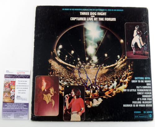 Chuck Negron Signed Album Three Dog Night Captured Live at the Forum w/ JSA AUTO