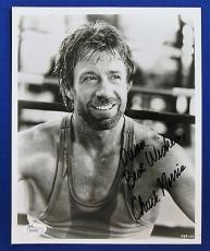 Chuck Norris Actor Signed Auto 8x10 B/W Photo - JSA