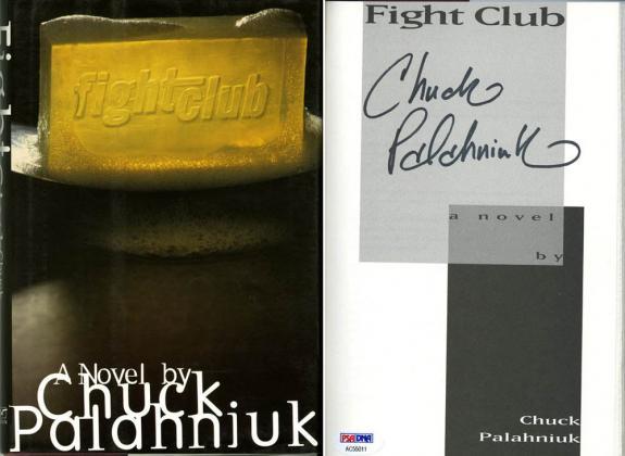 Chuck Palahniuk SIGNED Fight Club HC 1st Edition 1st Print PSA/DNA AUTOGRAPHED