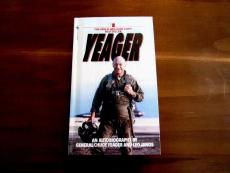 Chuck Yeager Speed Of Sound Pilot Signed Auto Yeager An Autobiography Book Jsa