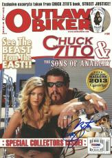 Chuck Zito Signed Outlaw Biker Magazine PSA/DNA COA Sons of Anarchy Hells Angels