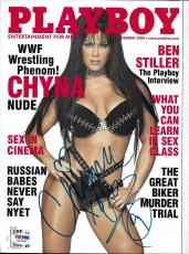 Chyna Signed November 2000 Playboy Magazine PSA/DNA WWE Diva Wrestling Autograph