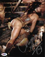 Chyna Signed WWE 8x10 Photo PSA/DNA COA DX Diva Playboy Wrestling Picture Auto E