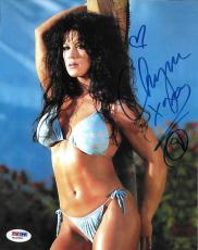 Chyna Signed WWE 8x10 Photo PSA/DNA COA DX Diva Playboy Wrestling Picture Auto I