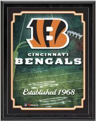 """Cincinnati Bengals Team Logo Sublimated 10.5"""" x 13"""" Plaque"""
